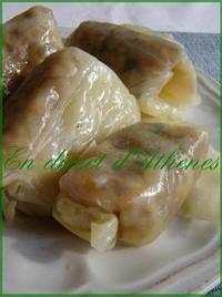 Feuille de Chou Farci Végétarienne (Grec)