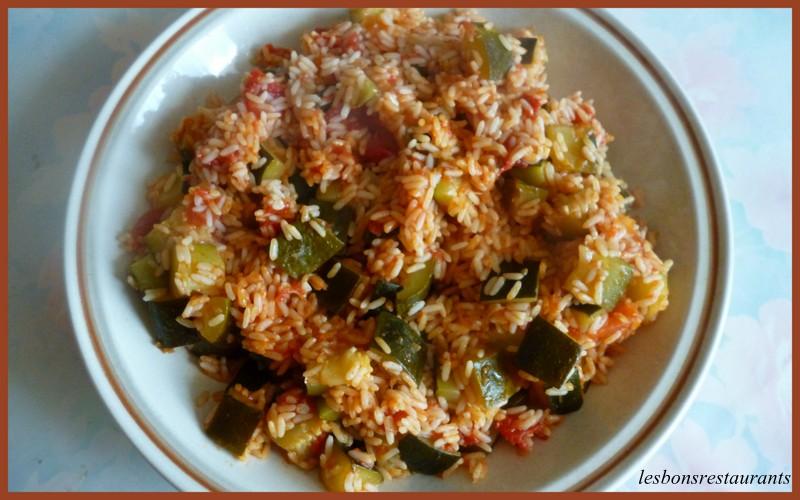 Riz aux courgettes et tomates