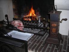 cuisson a la broche ancienne galinette. Black Bedroom Furniture Sets. Home Design Ideas
