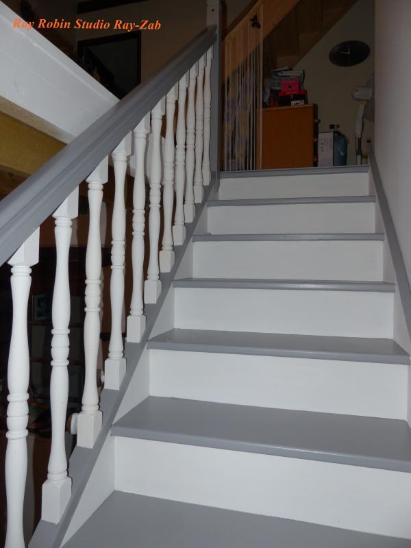 Forum peindre un escalier vitrifi - Peindre un escalier en beton ...