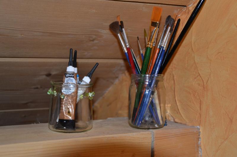 Peinture sur verre premi re tape bois de rose for Peinture bois de rose