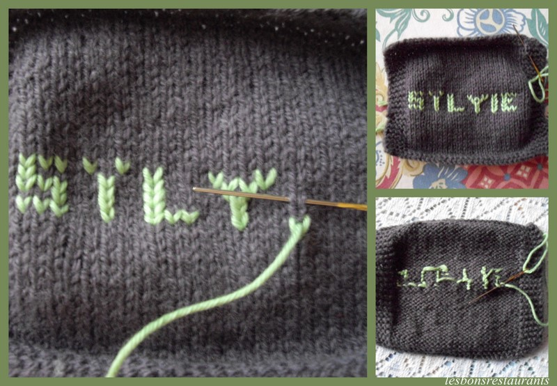 comment tricoter des lettres