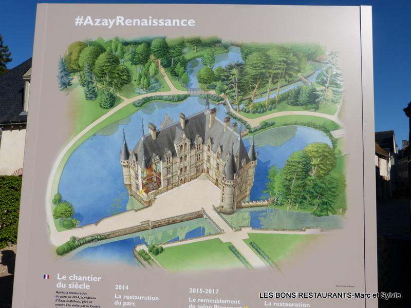 Azay le rideau 37 le charme de la renaissance les bons restaurants - Restaurant l aigle d or azay le rideau ...