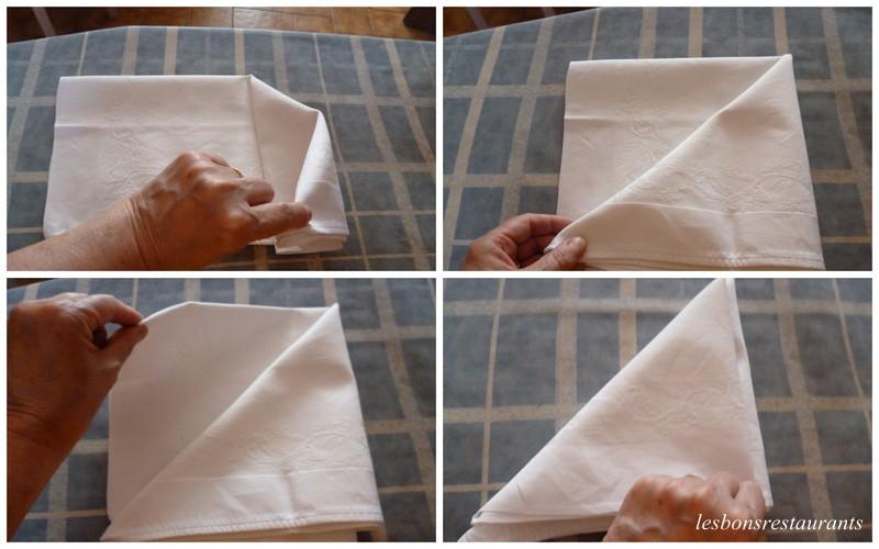 Pliage de serviettes le bateau les bons restaurants - Pliage serviette bateau ...
