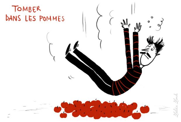 Αποτέλεσμα εικόνας για Tomber dans les pommes