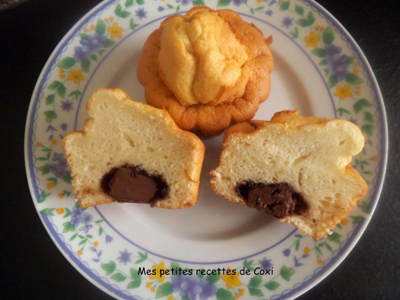 muffin moelleux au yaourt et coeur de nutella mes. Black Bedroom Furniture Sets. Home Design Ideas