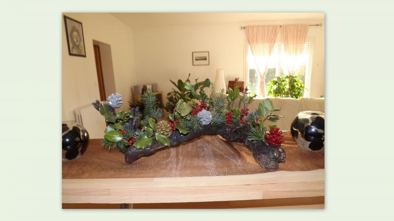 decoration noel avec pied de vigne cathy. Black Bedroom Furniture Sets. Home Design Ideas