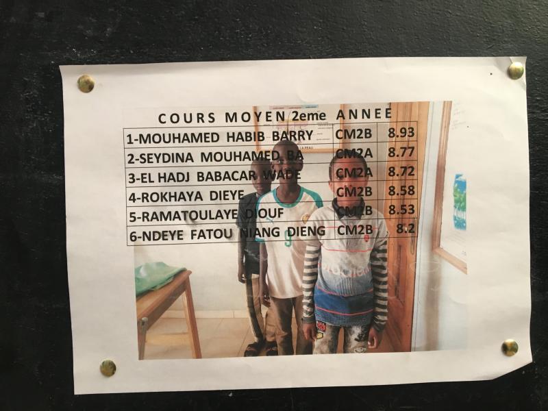 Le tableau d honneur du 1er trimestre pour les élèves de l élémentaire af4332998a5a