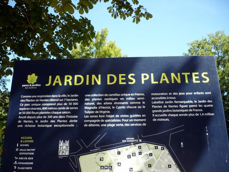 Balade au jardin des plantes de Nantes. - Le blog de Titanique