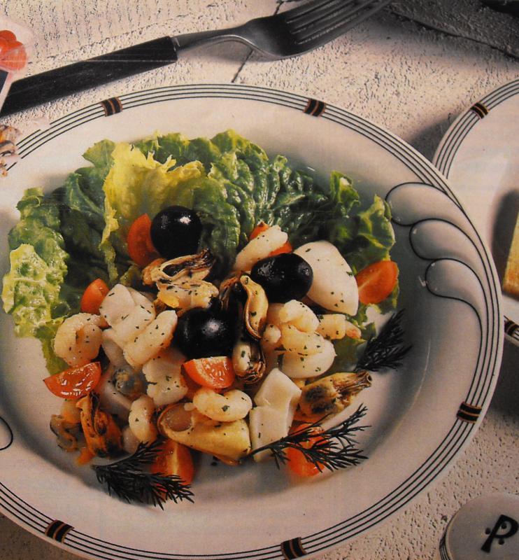Salade marine l 39 italienne entr e saveurs en libert - Cuisiner cocktail de fruits de mer surgele ...