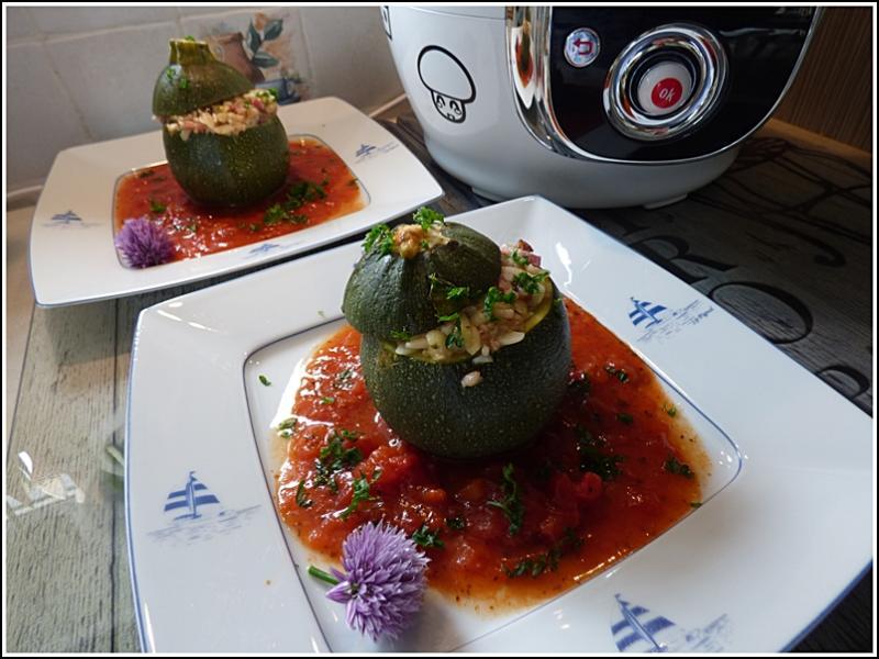 Courgettes rondes farcies aux c r ales version avec cook o la guillaumette - Cookeo cuisson sous pression ...