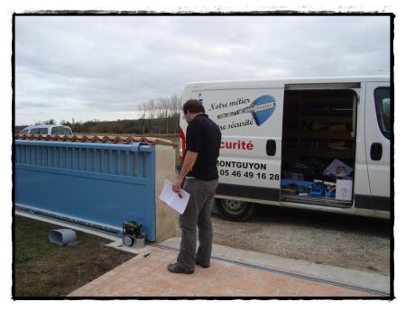 La motorisation du portail 25 f vrier 2011 la guillaumette - Enlever l electricite statique d un vetement ...