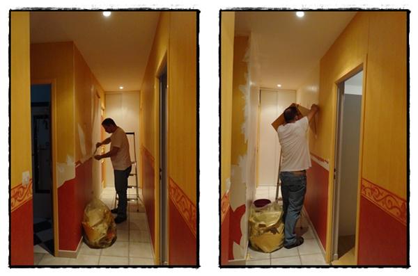 La r novation du couloir 24 f vrier 2012 la guillaumette - Peindre couloir deux couleurs ...