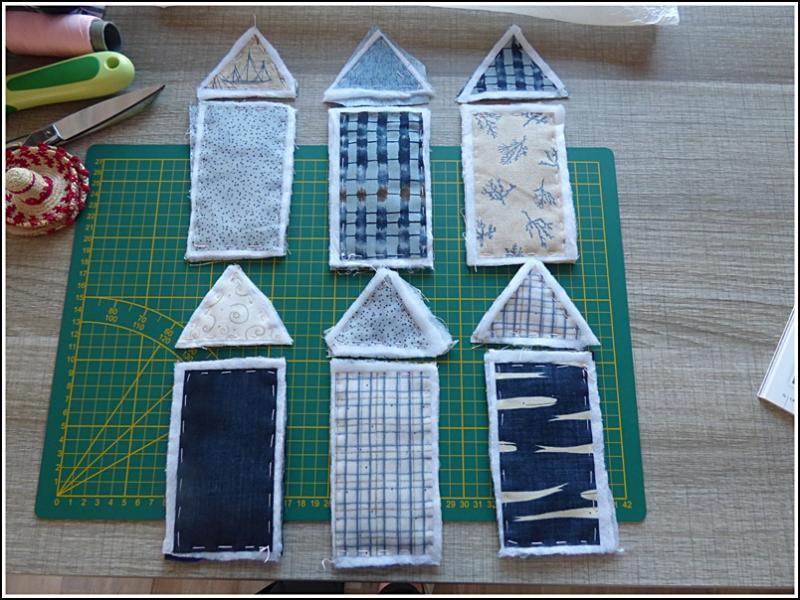 Prestigious Textiles Picnic patchwork Ciel tissu de coton par mètre