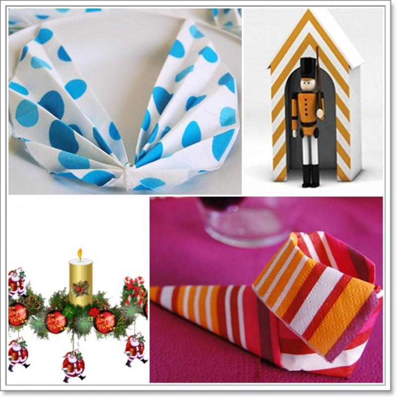 Pliages de serviettes pour no l la guillaumette - Pliage de serviette pour noel ...