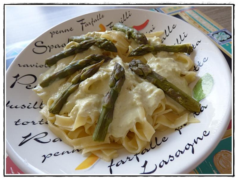 Tagliatelles fra ches aux asperges vertes version avec thermomix tm5 la guillaumette - Cuisiner les asperges vertes fraiches ...