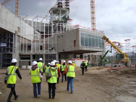 Visite du chantier du centre pompidou metz mars 2009 for Visite de chantier