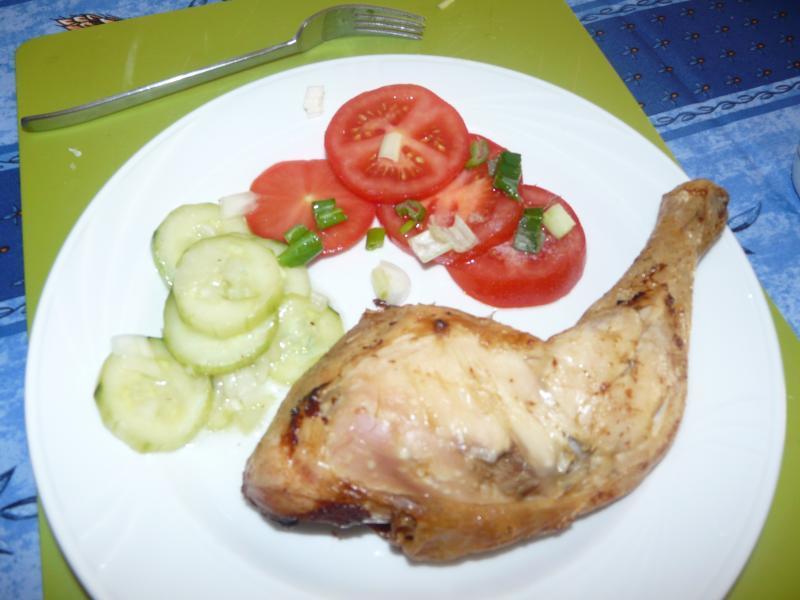 Cuisse de poulet avec crudit cuisine simple - Cuisse de poulet calories ...