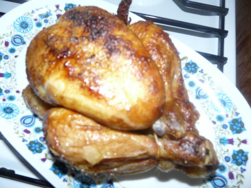 un beau poulet a la broche cuisine simple. Black Bedroom Furniture Sets. Home Design Ideas