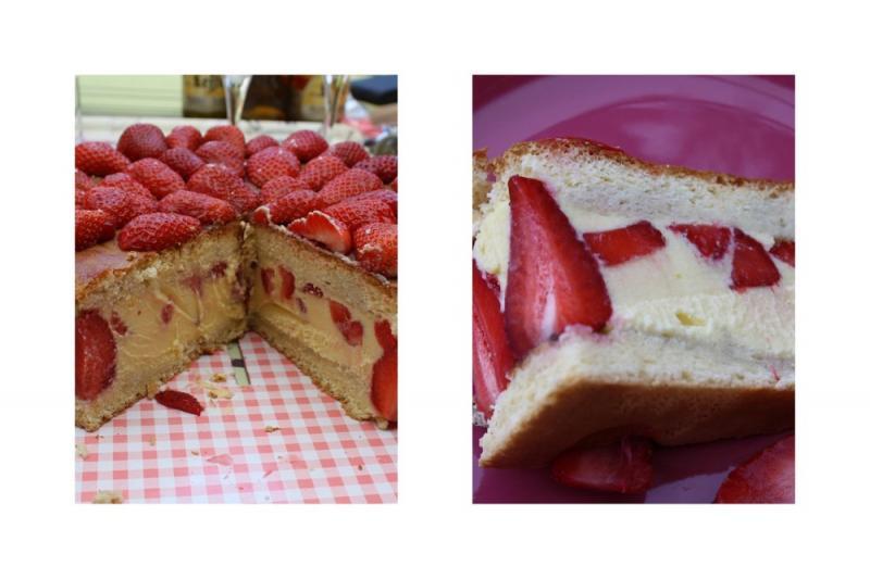 Gateau fraisier calories