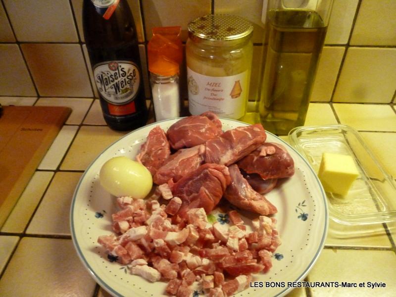 Joues de porc la bi re et au miel les bons restaurants - Joue de porc cocotte minute ...