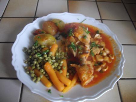 Le poulet marengo les bons restaurants - Poulet marengo recette ...