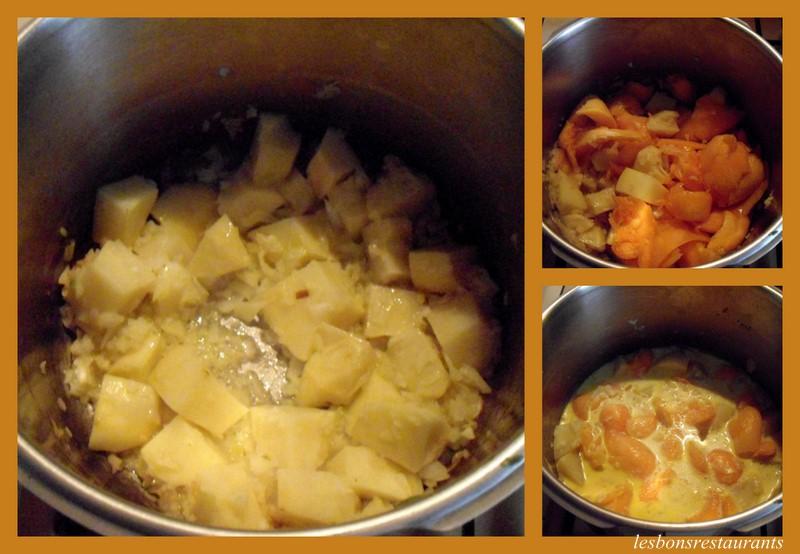 Soupe au potiron et aux poireaux les bons restaurants - Soupe potiron cocotte minute ...