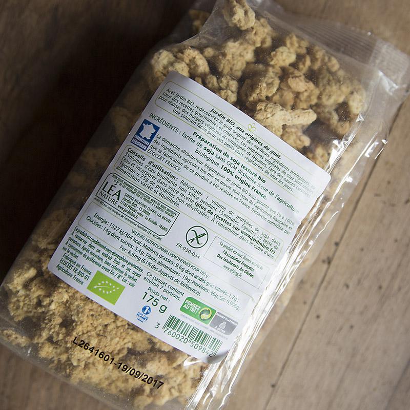 Les prot ines de soja textur es pst vegan sans gluten - Cuisiner les germes de soja ...