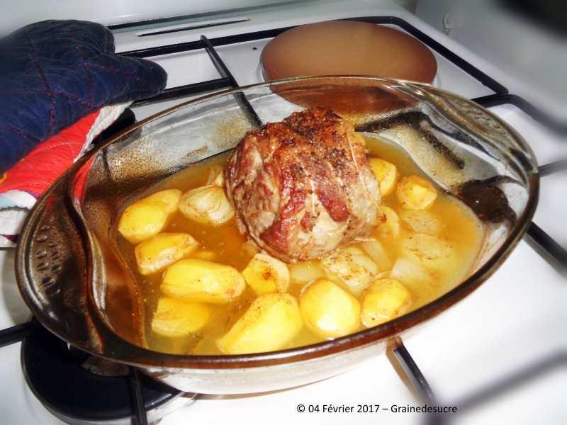 R ti d 39 agneau au cidre grainedesucre - Roti d agneau cuisson ...