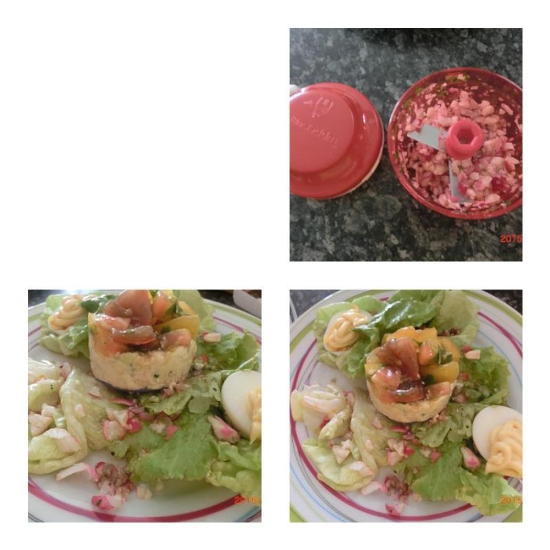 tartare de tomates aux rillettes de thon simple chez christine. Black Bedroom Furniture Sets. Home Design Ideas