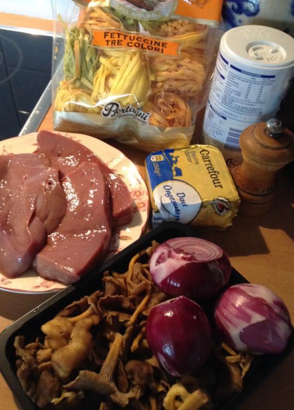 Foie de veau et fittuccines aux chanterelles gigi - Cuisiner le foie de veau ...