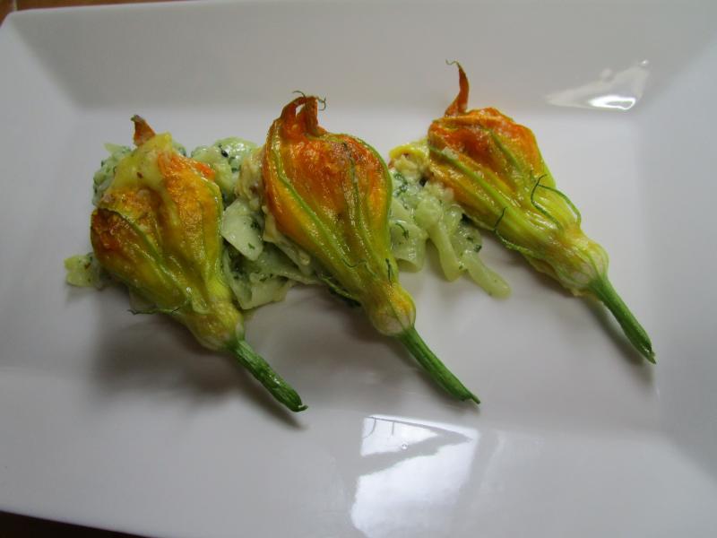 Fleurs de courgette bistrocuizz - Fleurs de courgettes au four ...