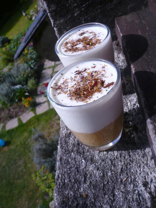 Compote de pommes yaourt au lait de ch vre le blog de - Yaourt maison lait de chevre ...