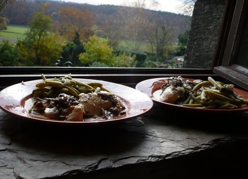 Filet de poulet champignons des bois haricots vert du - Congelation des haricots verts du jardin ...