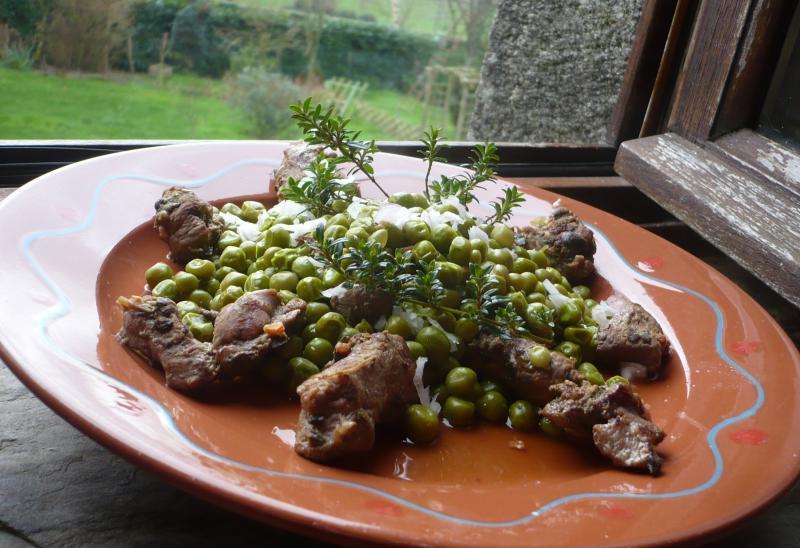 Petits pois du jardin filet de canard le blog de titanique - Comment cuire les petit pois du jardin ...