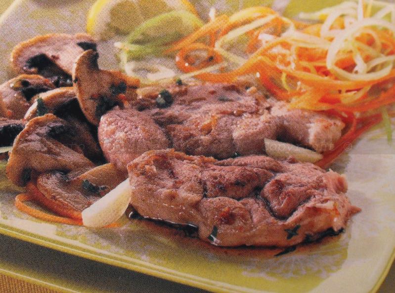 Jarret de veau aux champignons viande saveurs en libert - Jarret de veau au four ...