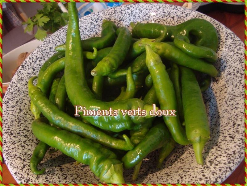 Congélation des piments verts doux - LA GUILLAUMETTE