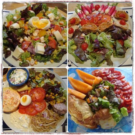 Des id es de salades compos es la guillaumette - Decoracion de ensaladas ...