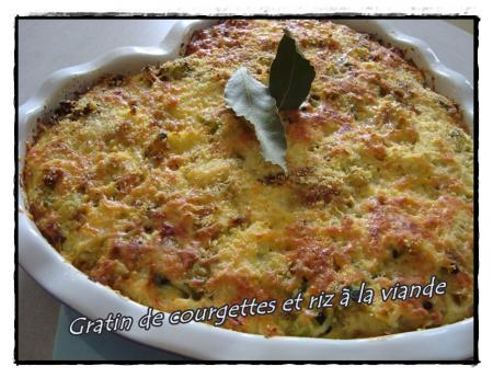 gratin de courgettes et riz la viande de fran oise la guillaumette. Black Bedroom Furniture Sets. Home Design Ideas