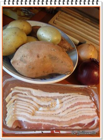 gratin moelleux aux deux pommes de terre la guillaumette. Black Bedroom Furniture Sets. Home Design Ideas