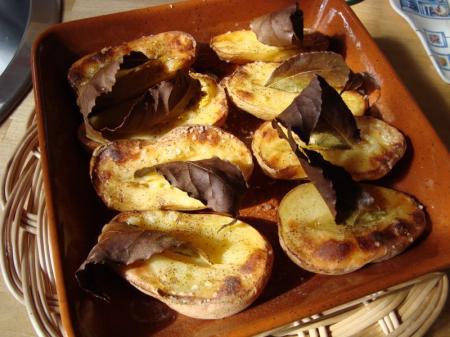 Saumon t ryaki et pommes de terre au four et au laurier la guillaumette - Pomme de terre au four papier alu ...