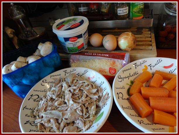 tourte au lapin carottes et champignons de paris la guillaumette. Black Bedroom Furniture Sets. Home Design Ideas
