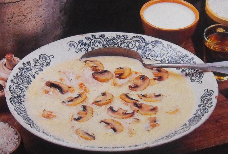recette soupe aux champignons et poulet recette soupe aux. Black Bedroom Furniture Sets. Home Design Ideas