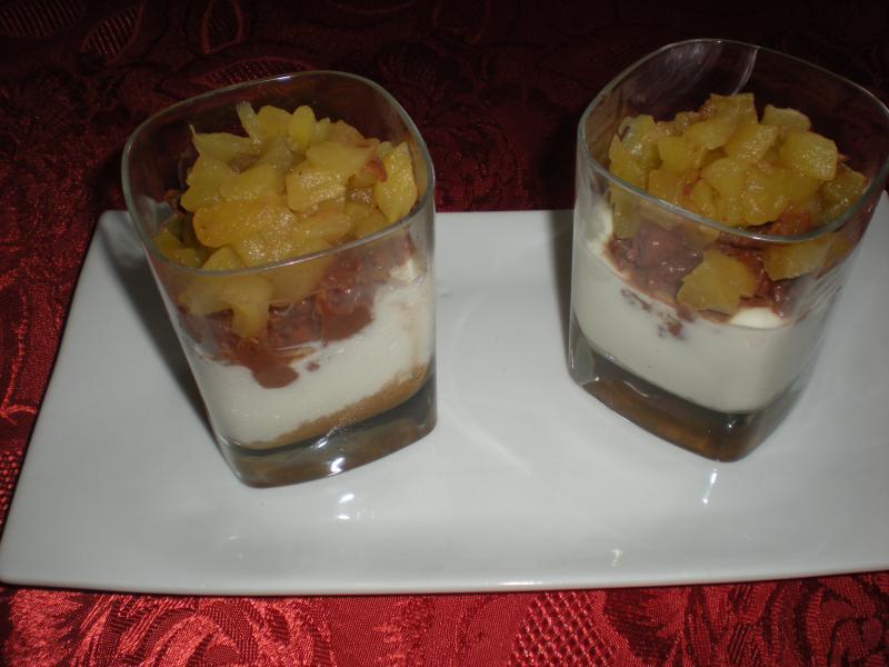 recette verrines aux spculoos chocolat et pommes recette verrines aux spculoos chocolat et