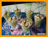Verrines Avocat-Queue de Langoustines